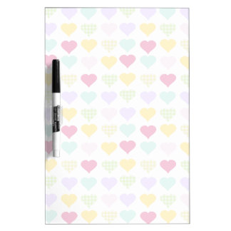 Colorful pastel hearts pattern Dry-Erase whiteboards