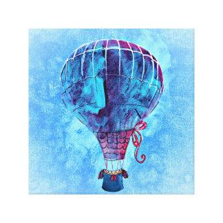 Colorful Pastel Hot Air Balloon Canvas Print