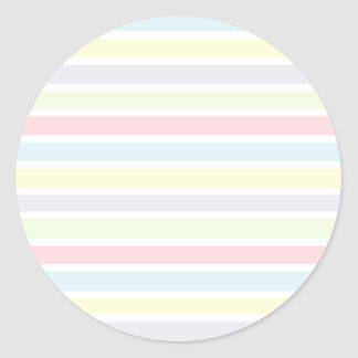 Colorful Pastel Lines Classic Round Sticker