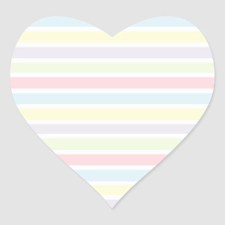 Colorful Pastel Lines Heart Sticker