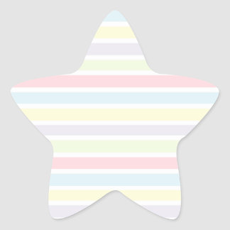 Colorful Pastel Lines Star Sticker