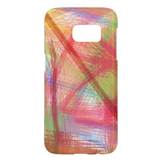Colorful Pastel Scribbles Abstract Samsung Galaxy S7 Case