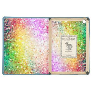 Colorful Pastel Tones Retro Glitter Cover For iPad Air