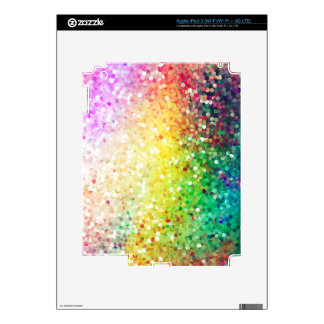 Colorful Pastel Tones Retro Glitter iPad 3 Skins