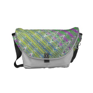 Colorful Pastel Zigzag Pattern Small Messenger Bag