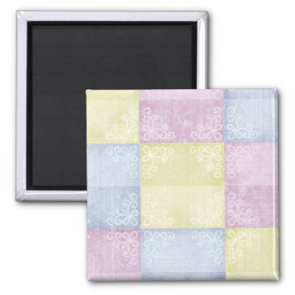 Colorful Pastels Patchwork Refrigerator Magnets