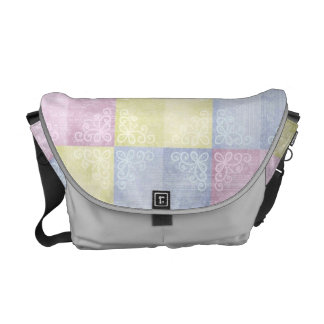 Colorful Pastels Patchwork Courier Bags
