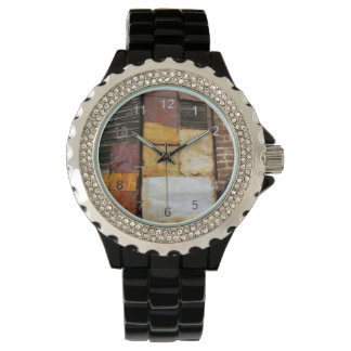 Colorful Patched Shutters Wristwatch