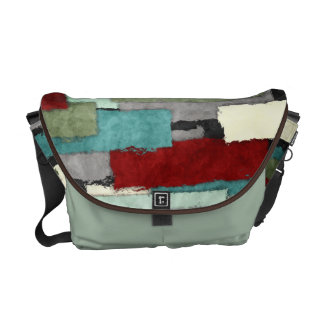 Colorful Patches Abstract Courier Bag