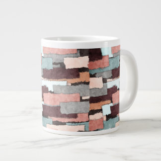 Colorful Patches Abstract Giant Coffee Mug