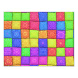 """colorful patchwork 4.25"""" x 5.5"""" invitation card"""