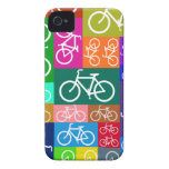 Colorful Patchwork Bicycle Art iPhone 4 Cover