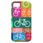 Colorful Patchwork Bicycle Art iPhone 5 Covers