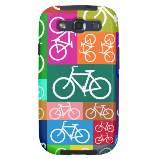 Colorful Patchwork Bicycle Art Samsung Galaxy S3 Case