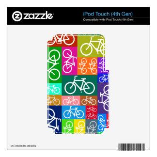 Colorful Patchwork Bicycle Art Skin For iPod Touch 4G