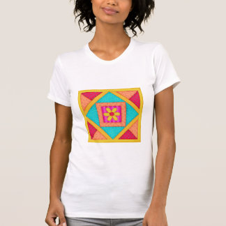 Colorful Patchwork Quilt Block Art T-Shirt