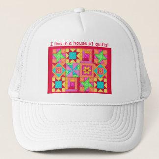 Colorful Patchwork Quilt Blocks Art Trucker Hat