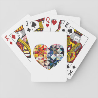 Colorful Patchwork Quilt Heart Playing Cards