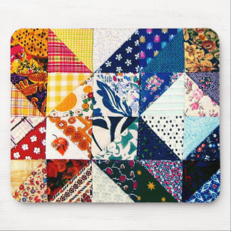 Colorful Patchwork Quilt Mouse Pad