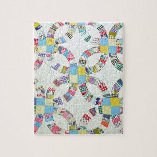 Colorful patchwork quilt puzzle