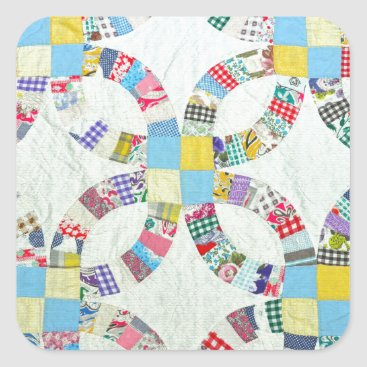 perldesign Colorful patchwork quilt square sticker