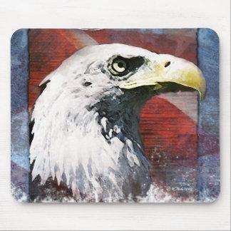 Colorful Patriotic Bald Eagle Mouse Pad