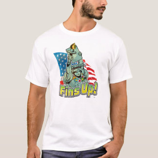 "Colorful & Patriotic ""Fins Up!"" T-shirt"