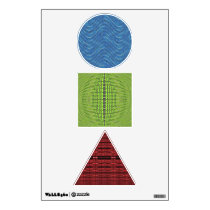 Colorful pattern abstracts wall sticker