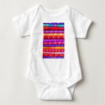 Colorful pattern baby bodysuit