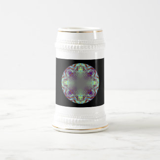 Colorful pattern. beer stein