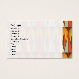 Colorful pattern business card