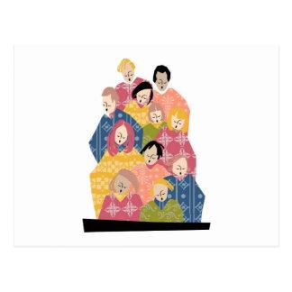 Colorful Pattern Choir Postcard