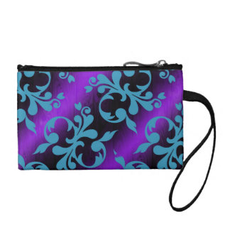 Colorful pattern coin clutch