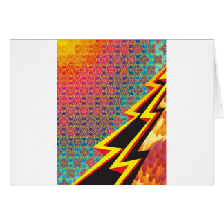"Colorful Pattern Creation ""Flash Gordon"" Card"
