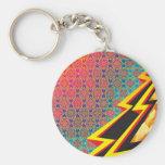 "Colorful Pattern Creation ""Flash Gordon"" Basic Round Button Keychain"