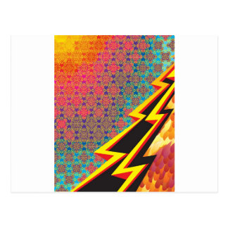 "Colorful Pattern Creation ""Flash Gordon"" Postcard"