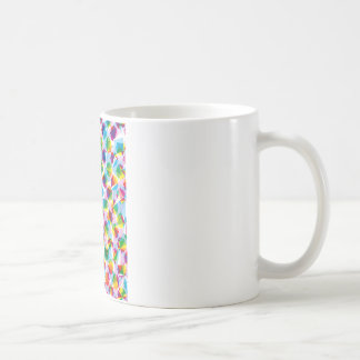 "Colorful Pattern Creation ""Fortuna"" Classic White Coffee Mug"
