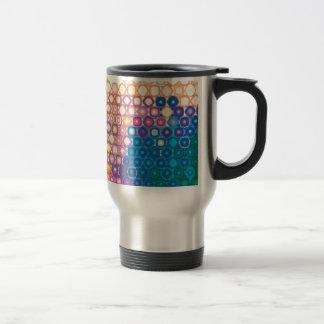 "Colorful Pattern Creation ""Gaia"" 15 Oz Stainless Steel Travel Mug"