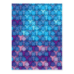 """Colorful Pattern Creation """"Love at First Night"""" Postcard"""