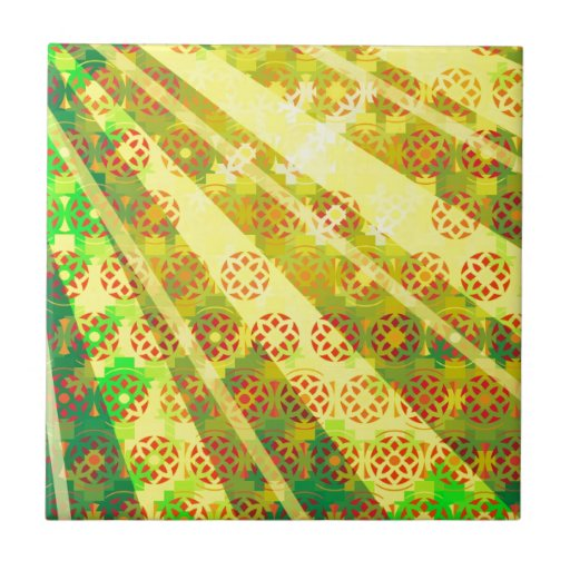 "Colorful Pattern Creation ""Morning Sun"" Ceramic Tiles"