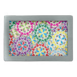 """Colorful Pattern Creation """"My Los Angeles"""" Belt Buckle"""