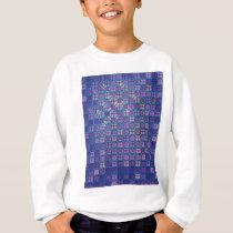"Colorful Pattern Creation ""Purple Rain"" Sweatshirt"