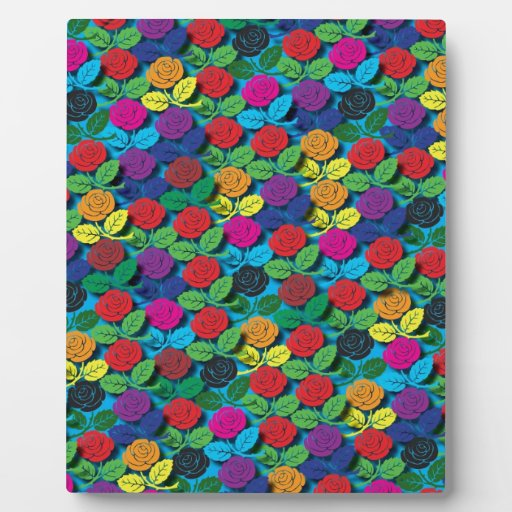 "Colorful Pattern Creation ""Rose Garden"" Photo Plaque"