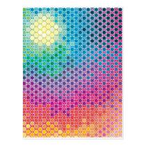 "Colorful Pattern Creation ""Starlight"" Postcard"