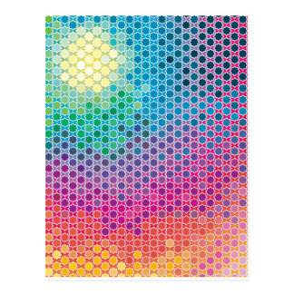 Colorful Pattern Creation Starlight Postcards