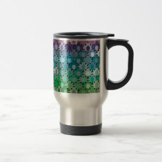 """Colorful Pattern Creation """"Tropicana"""" 15 Oz Stainless Steel Travel Mug"""