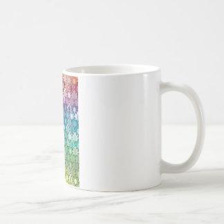 "Colorful Pattern Creation ""Tropicana"" Classic White Coffee Mug"