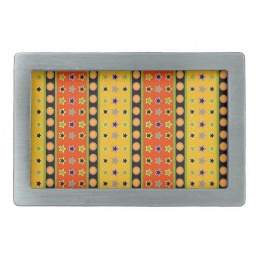 Colorful Pattern  Design Belt Buckle