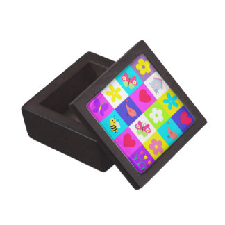 colorful pattern design gift box