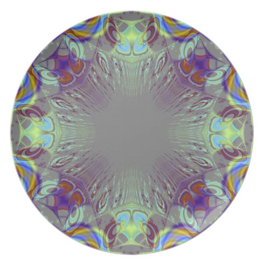Colorful pattern. dinner plate